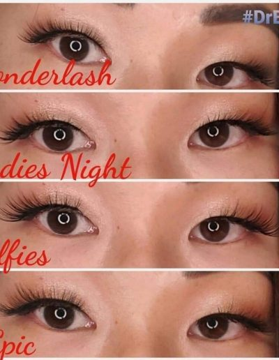 hooded eye lashes demonstrated on woman with brown eyes and brown hair